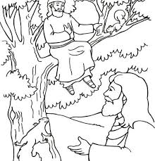 Zacchaeus And Jesus Coloring Page Homely Design Jesus And Zacchaeus Coloring Page