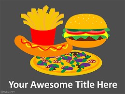 Free Fast Food Powerpoint Templates Myfreeppt Com Fast Food Ppt