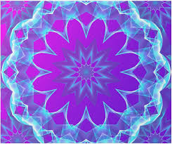 psychedelic abstract violet purple glow wrapping paper