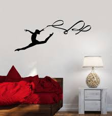 online get cheap gymnastics wall murals aliexpress com alibaba perfect quality ribbon wall stickers art mural decor gymnastics wall decal for gym sports girls room