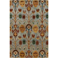 Green And Brown Area Rugs Chandra Rupec Blue Brown Gold Grey Green 7 Ft 9 In X 10 Ft 6 In