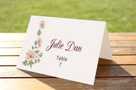 Wedding Place Cards Template Wedding Table Place Card Template Card Templates Creative Market