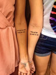 friendship tattoo tattoo friendship traveltattoos