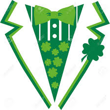 green st patrick u0027s day suit with bow tie royalty free cliparts