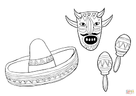 maracas coloring pages funycoloring