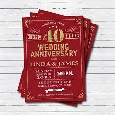 40th anniversary invitations the 25 best wedding anniversary invitations ideas on