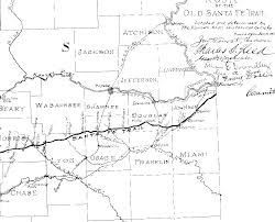 Pony Express Route Map by Kansas Historic Trails Old West Kansas Ks Santa Fe Trail