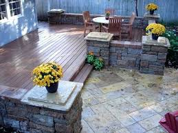 deck stone pavers natural stone and stone patio design outdoor