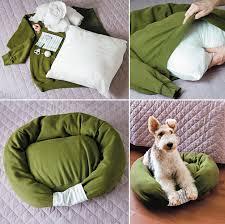 Hooded Dog Bed How To Make Sweatshirt Pet Bed Diy U0026 Crafts Handimania
