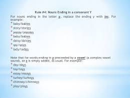 rules to form plural nouns