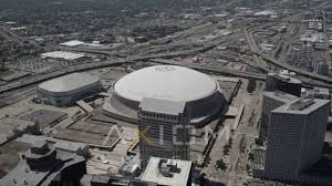 mercedes dome orleans mercedes superdome orleans louisiana aerial stock