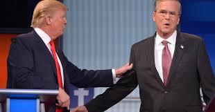 trump vs bush the gloves are now off