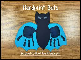 handprint bats art halloween projects kindergarten fun october