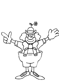 printable clown coloring pages circus for preschool page
