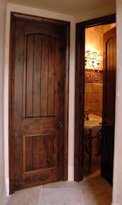 Interior Wood Door Arts And Craft Wood Interior Doors With V Grooved Panels