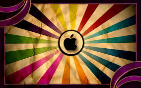 apple vintage laptop colorful background wallpapers colorful