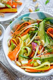 sesame ribbon asian ribbon salad with lite sesame soy dressing