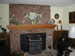 decor u0026 tips cool brick accent wall and fireplace mantel shelf