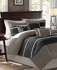 Microsuede Duvet Cover Queen Madison Park Palmer Microsuede 7 Pc Comforter Sets Bed In A Bag