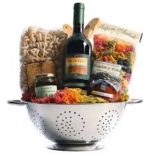 wine gift basket ideas great gift basket idea italian wine colander unique pasta
