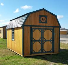 10x16 lofted barn green metal roof with matching trim douglas