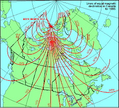 magnetic declination map gsc magnetic declination