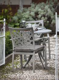 Cast Aluminium Outdoor Furniture by Stylish Decorative Celtic Style Set In Cast Aluminium From Hartman