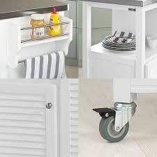 Schreibtisch F B O Sobuy Fkw01 Küche Aufbewahrung Servierwagen Legen Mit Edelstahl