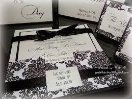 Damask Wedding Invitations Paperlicious Oasis Black And White Damask Wedding Invitations