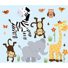Safari Nursery Wall Decals Nursery Jungle Wall Decals With Zebra Wall Decals For Boys Rooms