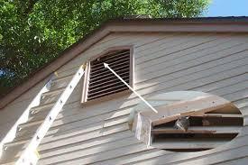 squirrels enter apartment building attic through gable vent
