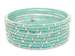 blue bangle bracelet images Blue silver glass indian bangles jpg