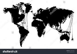 Black World Map by Abstract Grim World Map Halloween Map Stock Vector 149185970