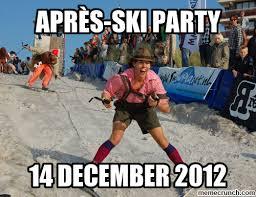 Ski Meme - ski party