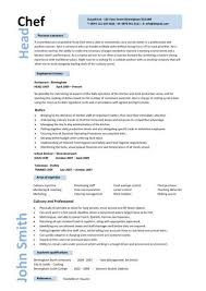 Personal Statement For Resume Examples by Head Chef Resume Sample Personal Statement Recentresumes Com