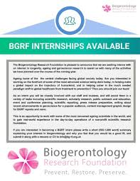 Volunteer Work On A Resume The Biogerontology Research Foundation Linkedin
