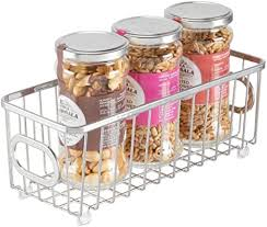 how to store food in cupboards mdesign metal farmhouse kitchen pantry food storage organizer basket bin wire grid design for cabinets cupboards shelves countertops closets