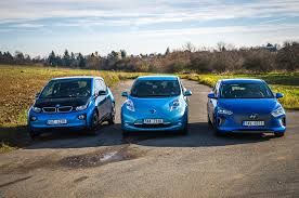 nissan leaf real world range bmw i3 vs nissan leaf vs hyundai ioniq electric push evs