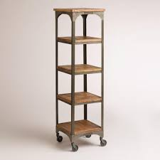 Industrial Bookcase With Ladder by Wood And Metal Aiden étagère Affordable Storage Metal Accents
