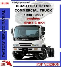 isuzu fsr ftr fvr 1998 2001 workshop service repair manual ebay
