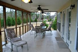 Backyard Tile Ideas Home Improvement Screened Porch Flooring Material Country With