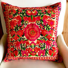 hmong floral pillow cases modern day hippie