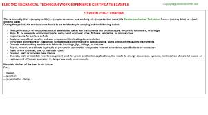 mechanical technician cover letter field service technician cover