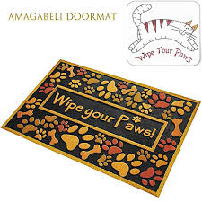 Wipe Your Paws Dog Doormat Amazon Com Outdoor Shoe Scraper Wipe Paws Doormat Recycled