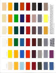 poly fiber color chart