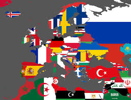 Maps Of Eastern Europe by Flag Vexillographical Map Of Europe U0026 North Africa Brilliant Maps