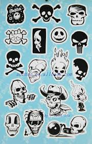 cool skull design tattoo sticker album buy sticker collecting