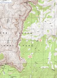 Topographical Map Of New Mexico by Topographic Map Of The Comanche Point Trail Grand Canyon National
