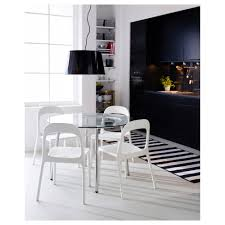 White Glass Kitchen Table by Salmi Table Ikea