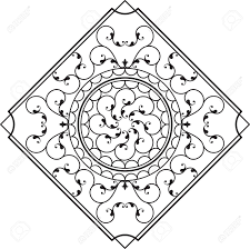 wrought iron wall hanging design vector art royalty free cliparts